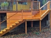 Cedar Staircase with Cable Wire