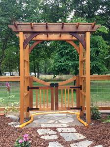 Cedar Arbor with Gate